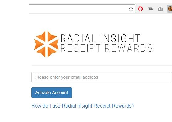 Radial insight receipt rewards