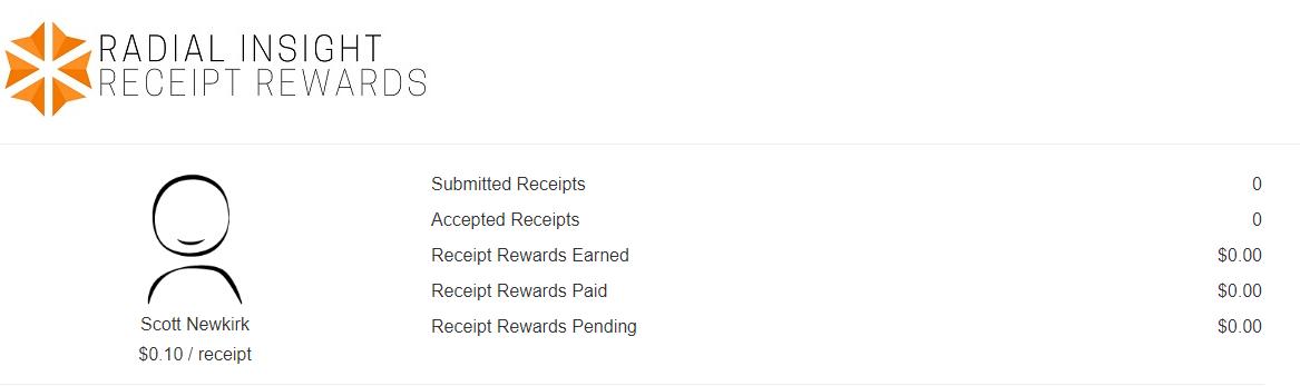 Radial insight receipt rewards