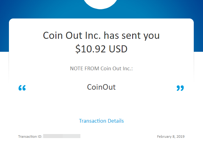 Coinout payments